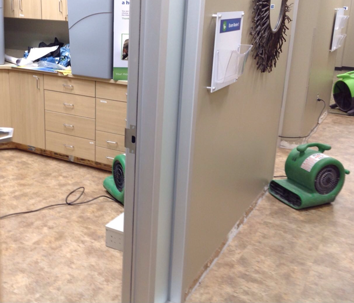 Water Damage in Minneapolis Dentist Office After