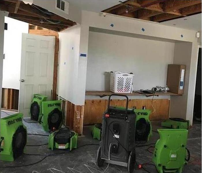Our advanced equipment sitting in the room working after a flood