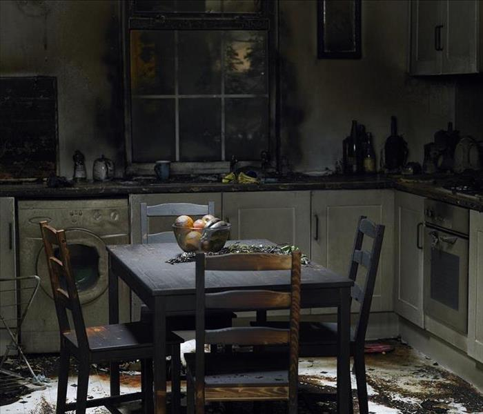 Aftermath of kitchen fire